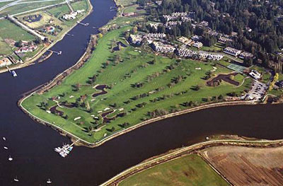 Aerial View of Nico Wynd Estates, Golf Course and Marina